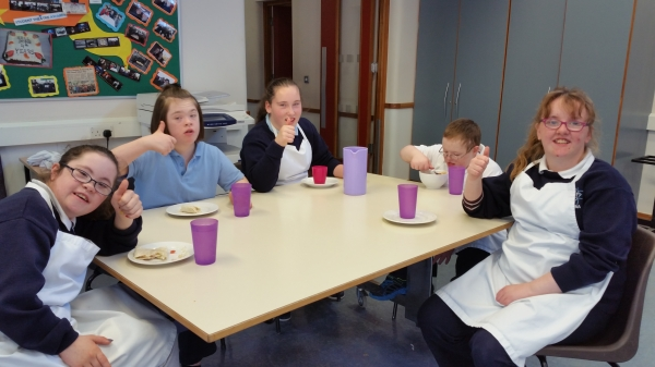 These are some very happy 4Rs after a cookery class with Ms Horan.