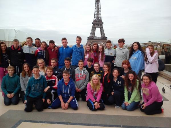 Killina Presentation Secondary School students on tour in Paris, October 2015