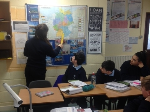 German speaker teaching 2nd year students