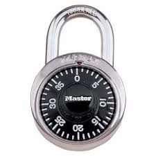 Using the combination lock.