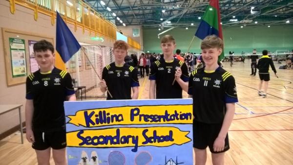 Boys U16 Team in All Ireland Schools Badminton Championship